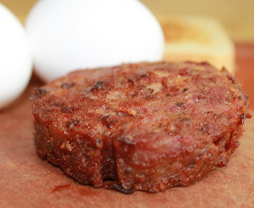 Breakfast sausage with bacon